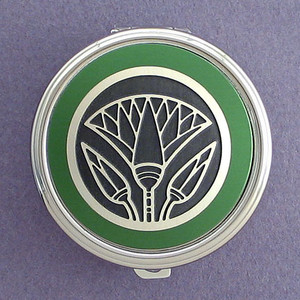 Egyptian Lotus Pill Case - Round
