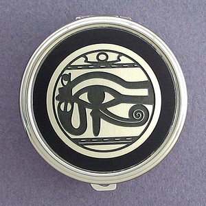 Egyptian Eye Pill Case - Round