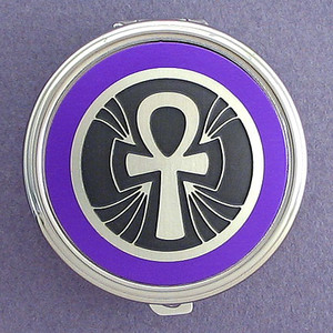Egyptian Ankh Pill Case - Round