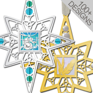 Festive Engraved Christmas Ornaments in Designs