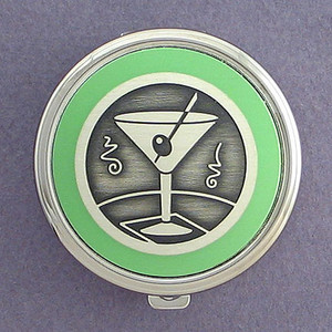 Martini Pill Case - Round