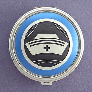 Nurse Cap Pill Case - Round