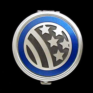 Stars & Stripes Pill Case - Round