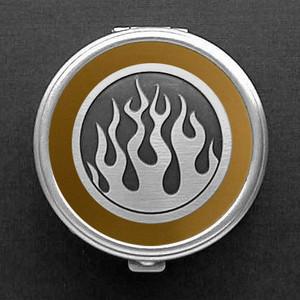 Flame Pill Box - Round
