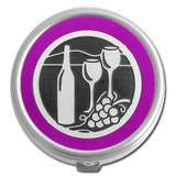 Wine Lover Pill Case - Round