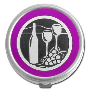 Wine Lover Pill Case - Round