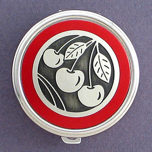 Cherry Pill Case - Round