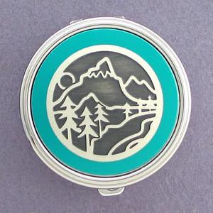Mountain Pill Case - Round