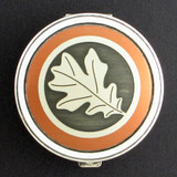 Oak Leaf Pill Case - Round