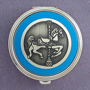Carousel Horse Pill Case - Round