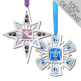 Fancy Polished Silver Ornaments in 100s of Personalized Designs