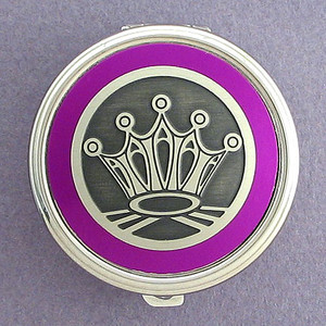 Crown Pill Case - Round
