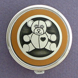 Teddy Bear Pill Case - Round