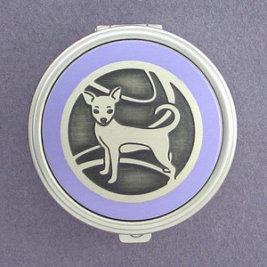 Chihuahua Dog Pill Case - Round