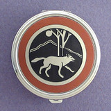 Wolf Pill Case - Round