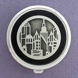 City Lights Pill Case - Round