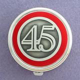 Number 45 Pill Case - Round