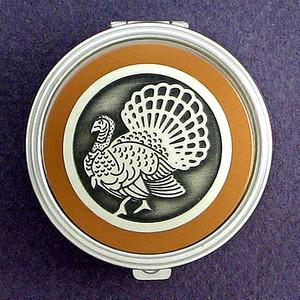 Turkey Pill Case - Round