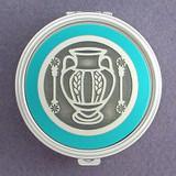 Grecian Vase Pill Case - Round