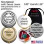 Designer Hummingbird Pill Case - Round