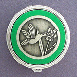 Hummingbird Pill Case - Round