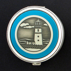 Lighthouse Pill Case - Round