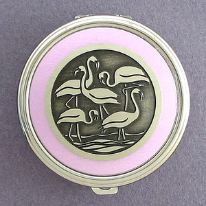 Flamingo Pill Case - Round