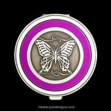 Butterfly Pill Case - Round