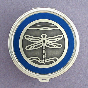 Dragonfly Pill Case - Round