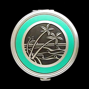Palm Tree Pill Box - Round