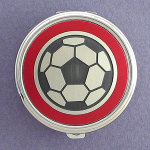 Soccer Pill Case - Round
