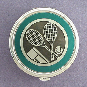 Tennis Pill Case - Round