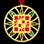 Gold Quilting Ornament