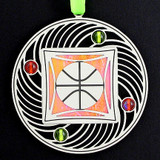 Apricot Orange & Lime Green Ornament