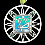 Aqua Blue & Peridot Christmas Ornaments