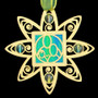 Aqua Blue & Green Ornament