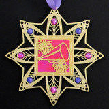 Hot Pink & Purple Christmas Ornaments