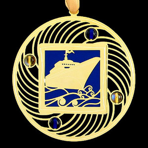 Blue & Gold Christmas Ornaments