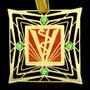 Copper Brown & Jade Ornament