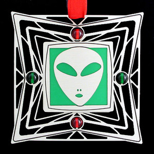Green & Red Ornament