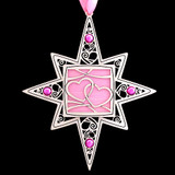 Light Pink & Hot Pink Christmas Ornaments
