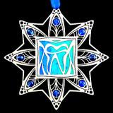 Ocean Blue & Sapphire Christmas Ornaments