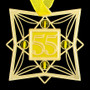 Yellow and Gold Ornament for 55th Birthday