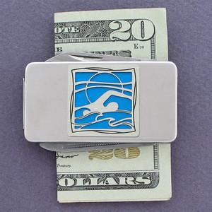 Swimming Pocket Knife Money Clip