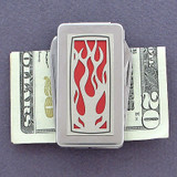 Flame Money Clip Pocket Knife