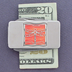 Dragonfly Money Clip with Pocket Knife