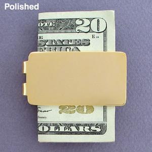 Blank Money Clips in Bulk - Polished Gold