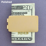 Polished Gold Money Clip
