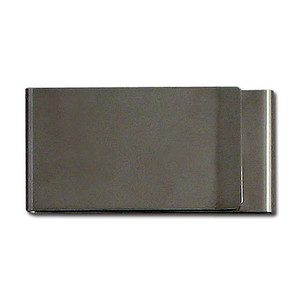 Two-Sided Money Clip - Polished Gunmetal