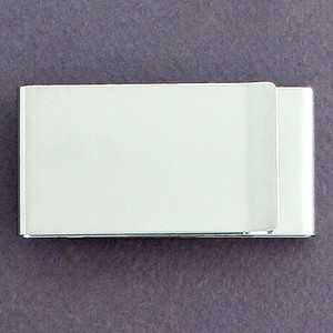 Double-Sided Money Clips - Polished Silver